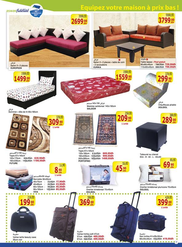 Aswak assalam catalogue mobilier du 26 avril 06 mai 2013 for Mobilia 2018 maroc