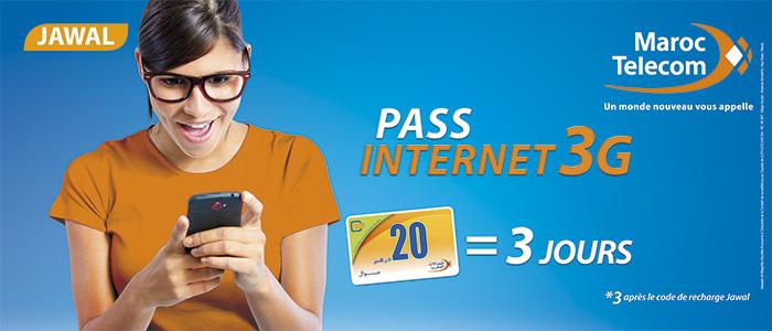 offre maroc telecom pass internet jawal g
