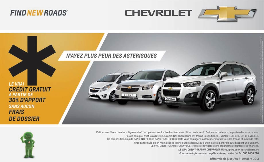 promotion chevrolet le vrai cr dit gratuit sans int r t promotion au maroc. Black Bedroom Furniture Sets. Home Design Ideas
