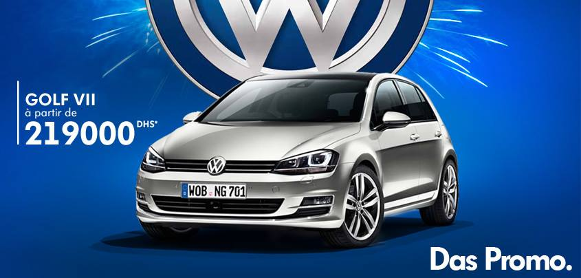 promotion volkswagen golf 7 tdi prix partir de dh promotion au maroc. Black Bedroom Furniture Sets. Home Design Ideas