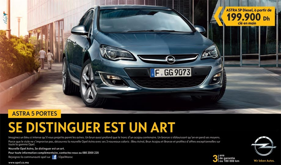 opel promotion et offres des opel au maroc. Black Bedroom Furniture Sets. Home Design Ideas