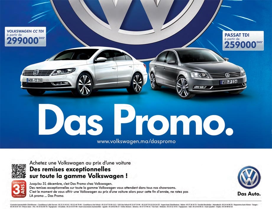 promotion volkswagen passat tdi prix partir de dh promotion au maroc. Black Bedroom Furniture Sets. Home Design Ideas