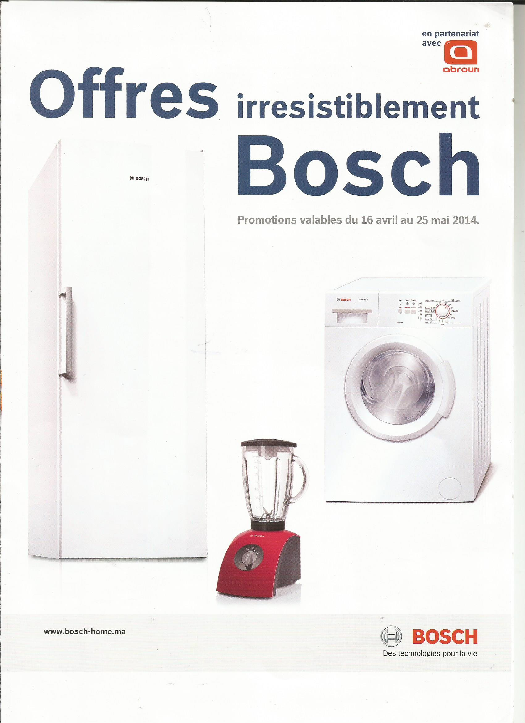 catalogue bosch maroc en partenariat avec abroun jusqu au. Black Bedroom Furniture Sets. Home Design Ideas