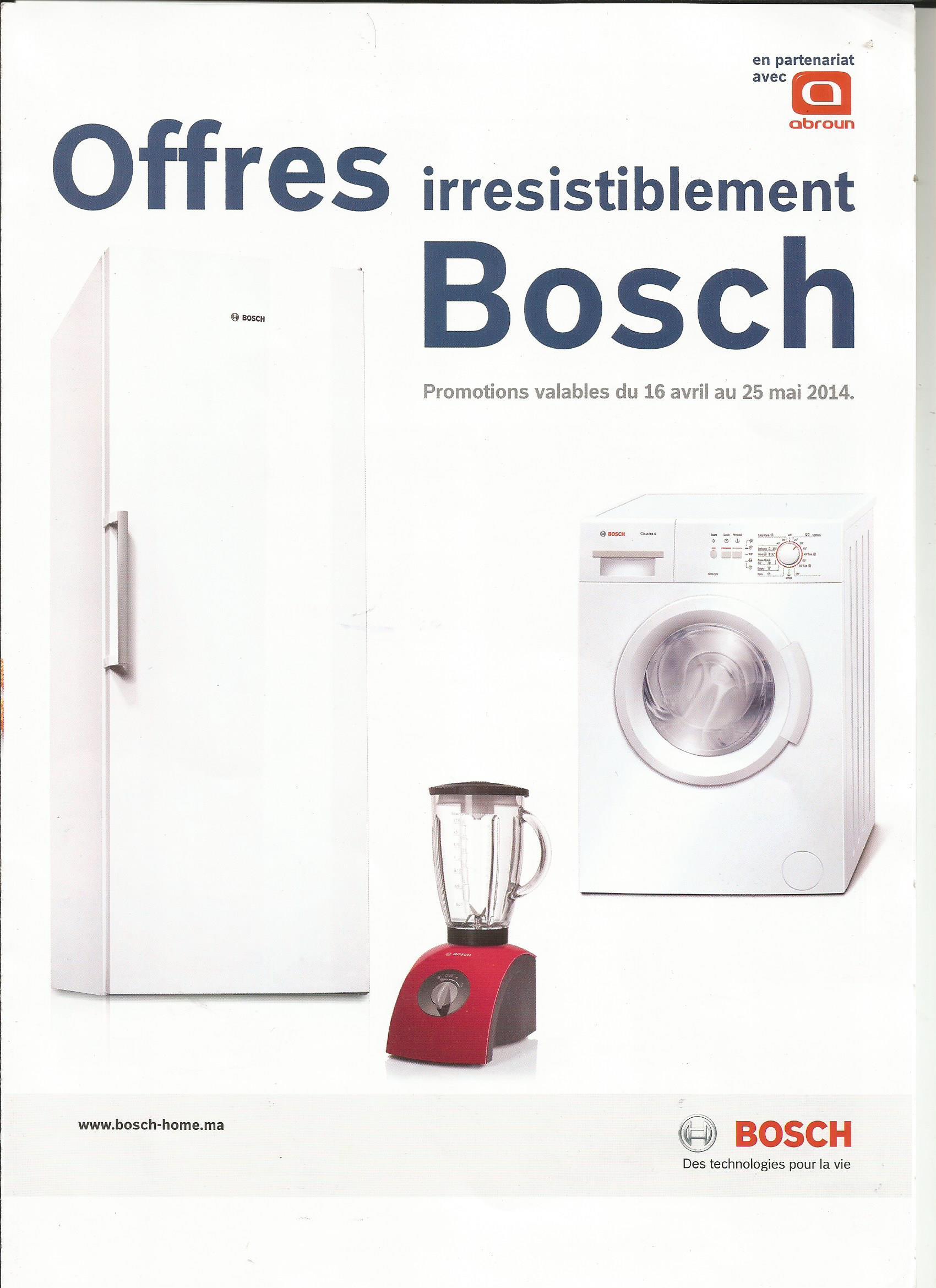 Bosch Maroc promotion MAI 2014