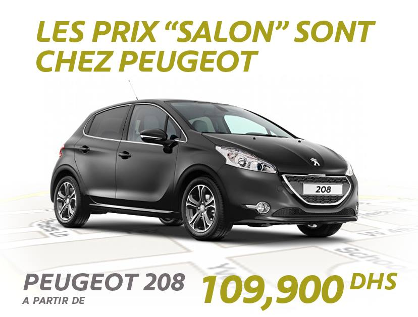 offre et promotion peugeot salon auto expo 2014 maroc promotion au maroc. Black Bedroom Furniture Sets. Home Design Ideas