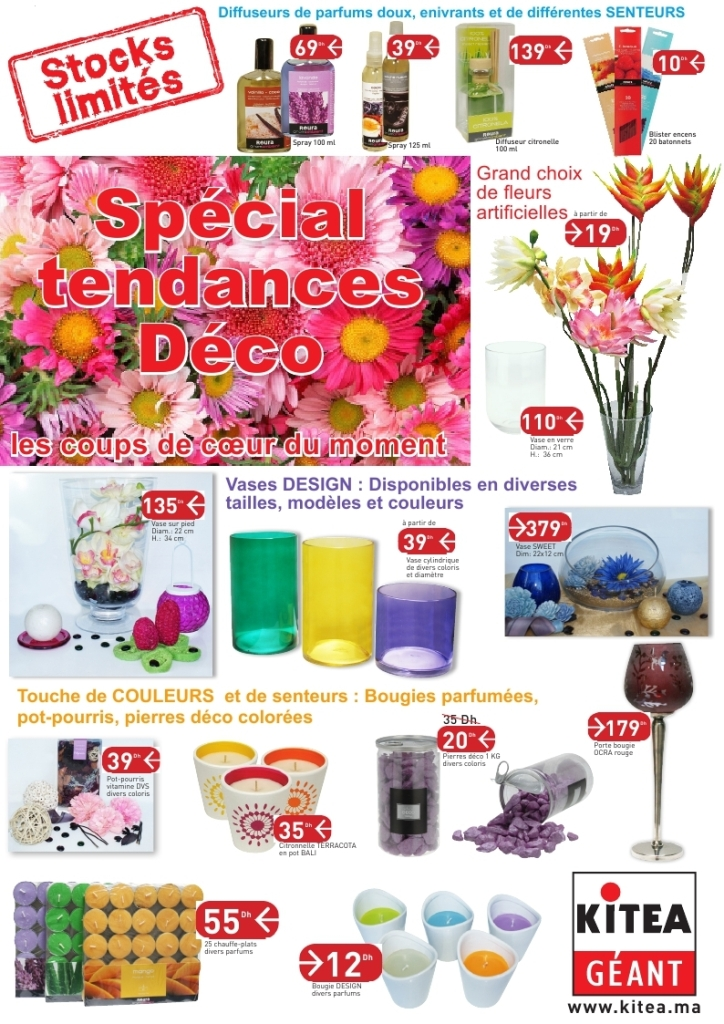 catalogue kitea maroc sp cial tendances d co collection 2014 stocks limit s promotion au maroc. Black Bedroom Furniture Sets. Home Design Ideas
