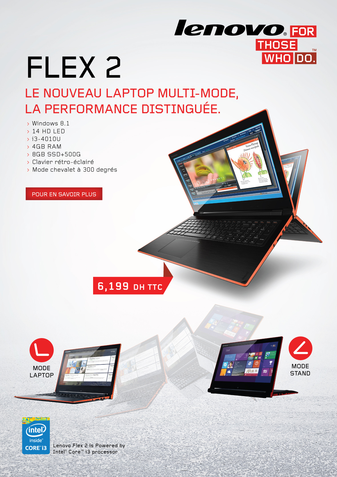 Lenovo flex 2 pc portable et tablette multimode prix for Ecran ordinateur solde