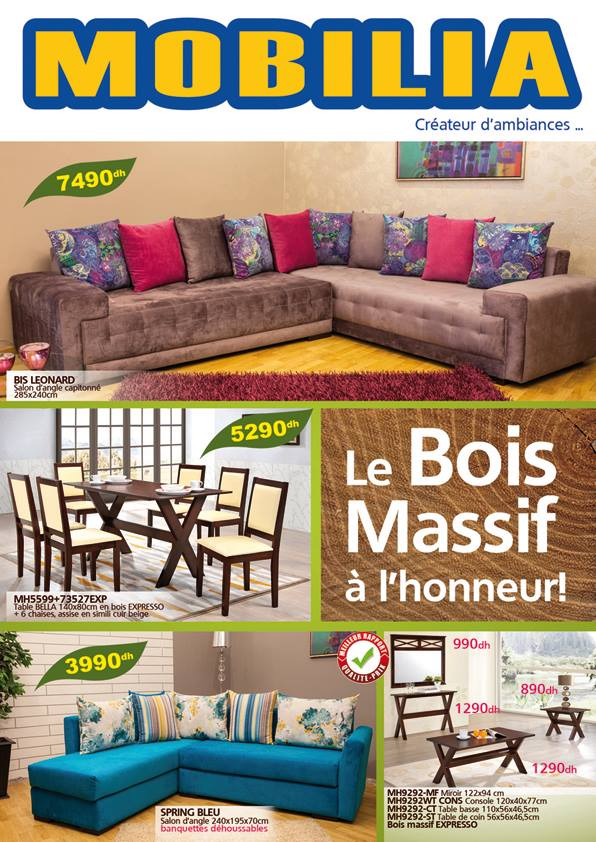 catalogue mobilia brochure d pliant ForMobilia 2018 Maroc
