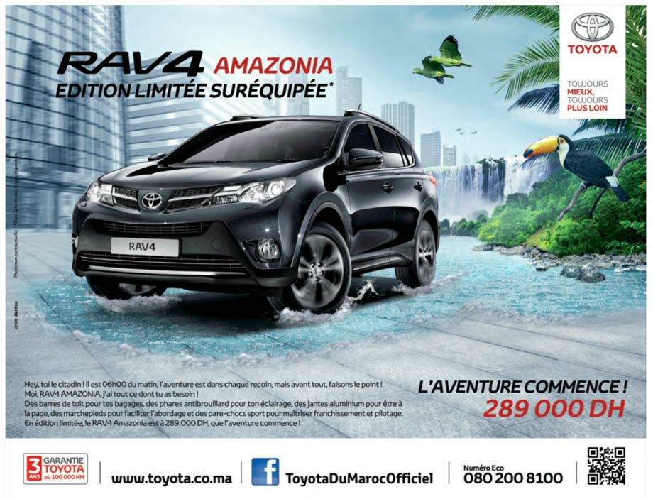 toyota rav 4 maroc prix partir de 289 000 dh promotion au maroc. Black Bedroom Furniture Sets. Home Design Ideas