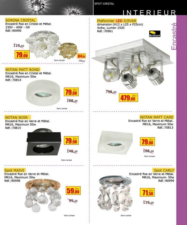 Bricoma maroc sp cial offres sur l eclairage d int rieur for Catalogue mobilia cuisine
