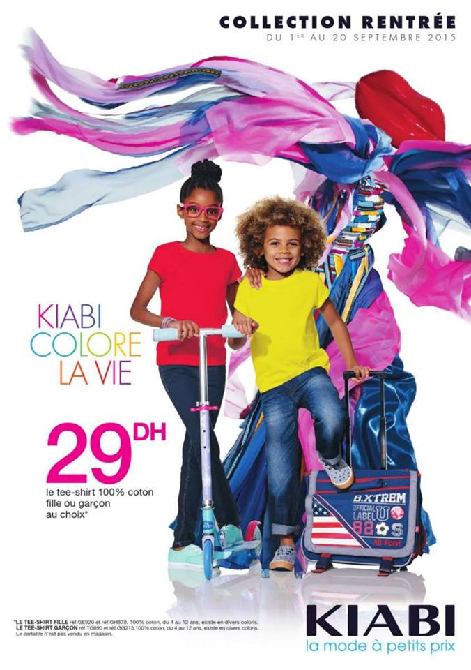 kiabi maroc catalogue du 01 au 21 septembre 2015 collection rentr e scolaire promotion au maroc. Black Bedroom Furniture Sets. Home Design Ideas