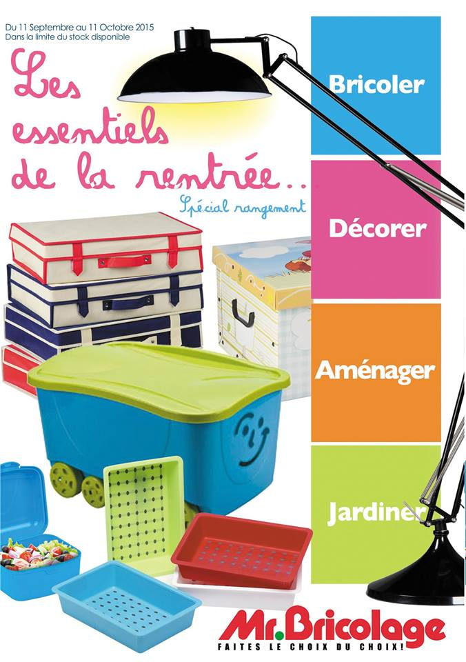 mr bricolage maroc catalogue du 11 septembre au 11 octobre 2015 la rentr e scolaire. Black Bedroom Furniture Sets. Home Design Ideas