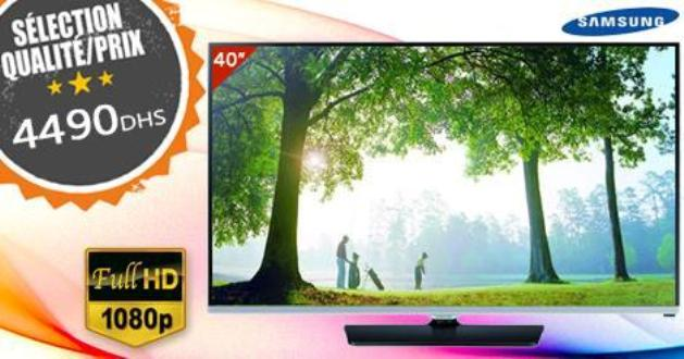 73dc1192f1ce85 samsung tv led 40 pouces prix 4490 DH chez le comptoir Maroc + ...
