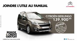 BERLINGO-Citroen-maroc-PROMO-creduit-gratuit-2016
