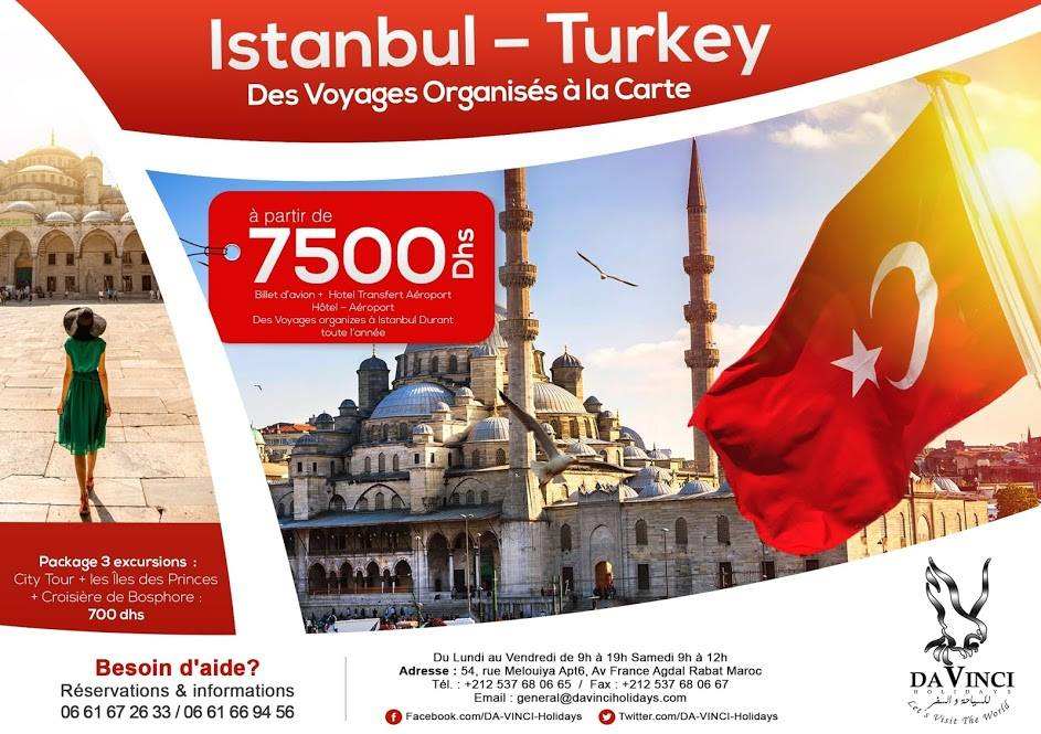 voyage maroc istanbul