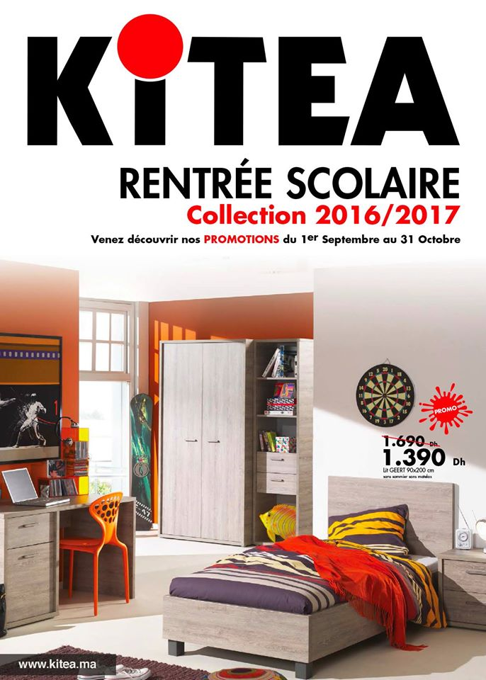 catalogue promotionnel kitea rentr e scolaire collection 2016 2017 promotion au maroc. Black Bedroom Furniture Sets. Home Design Ideas