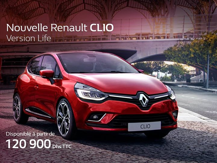 renault clio au maroc super promo prix partir de 120 900 mad avec cr dit gratuit promotion. Black Bedroom Furniture Sets. Home Design Ideas