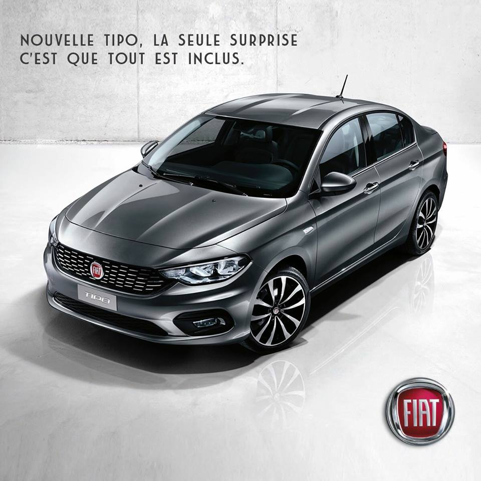 fiat tipo - 2017 -154 900 DHS