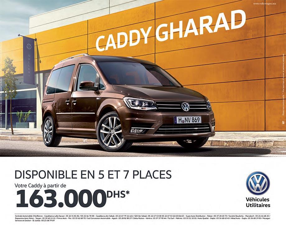 promo volkswagen caddy maroc offre exceptionnelle prix partir de 163 000 dh promotion au maroc. Black Bedroom Furniture Sets. Home Design Ideas