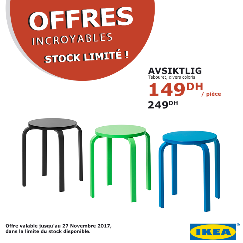 ikea maroc promotion des offres incroyables jusqu au 27 novembre 2017 stock limit. Black Bedroom Furniture Sets. Home Design Ideas