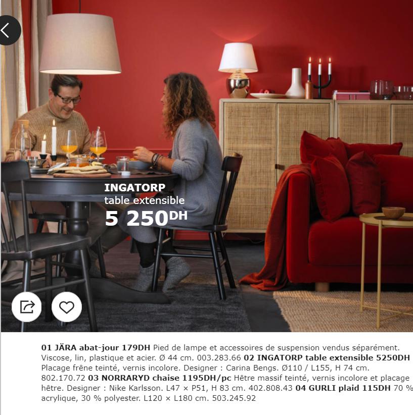 catalogue promotionnel ikea maroc pour la salle a manger