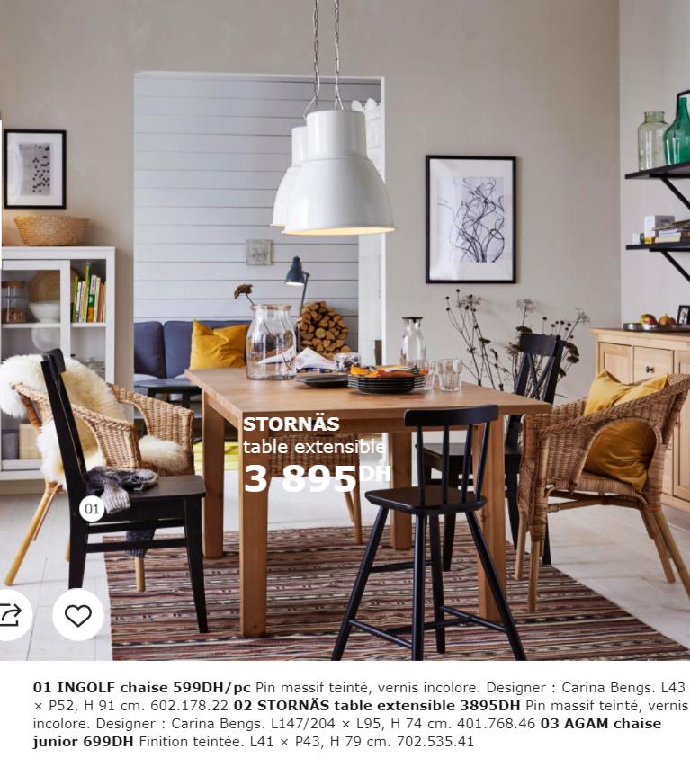 Catalogue Promotionnel Ikea Maroc Pour La Salle A Manger Collection 2018 Promotion Au Maroc