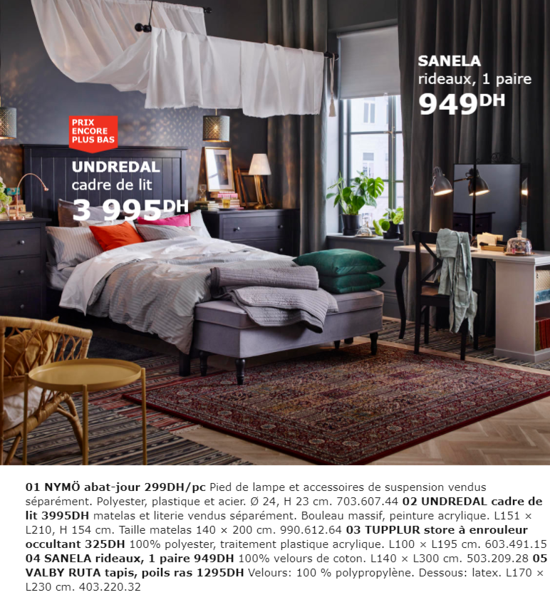 catalogue promotionnel ikea maroc pour la chambre collection 2018 promotion au maroc. Black Bedroom Furniture Sets. Home Design Ideas