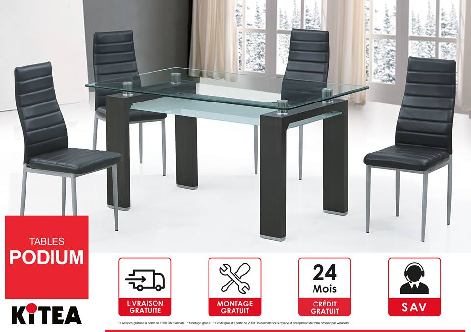 Kitea maroc promotion sp cial sur la table podium for Table a rabat cuisine