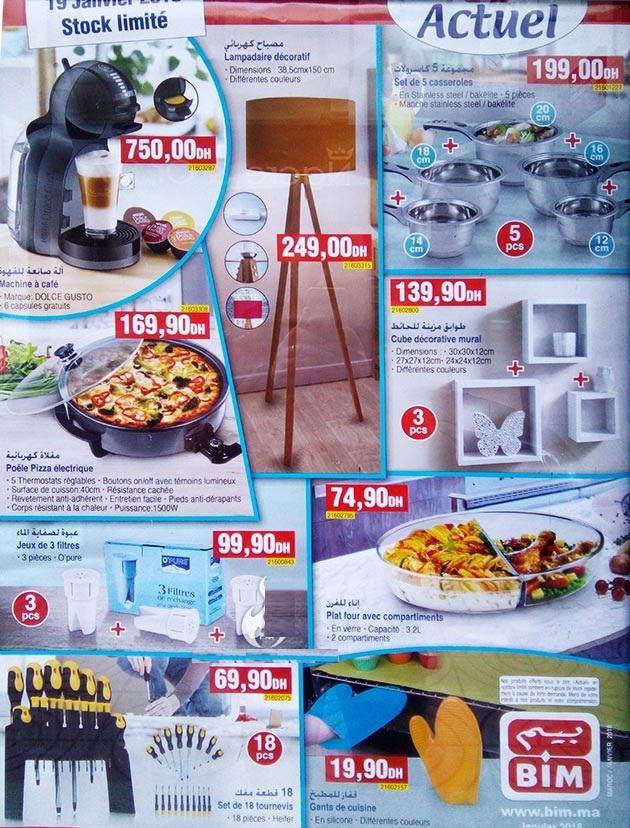Bim maroc catalogue du vendredi janvier with catalogue for Mobilia cuisine