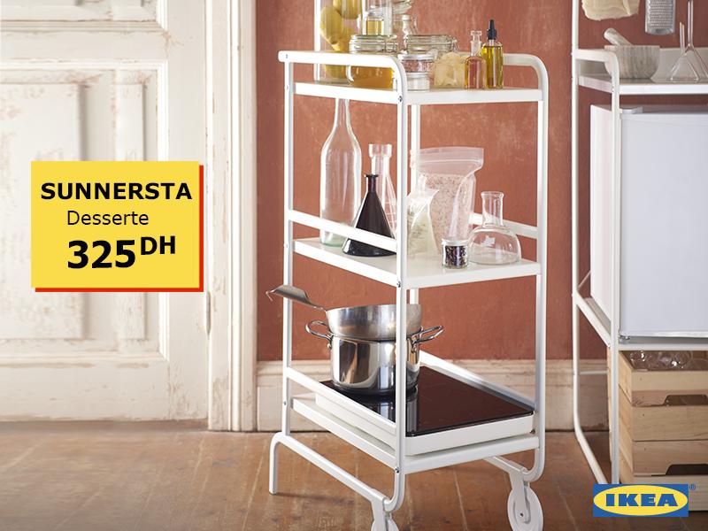 Ikea Maroc Promotion Sur Une Desserte A Roulettes Sunnersta Promotion Au Maroc