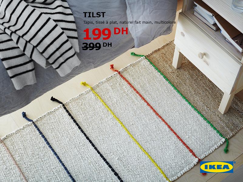 Ikea Maroc Promotion Sur Un Tapis Tisse A Plat Naturel Fait Main