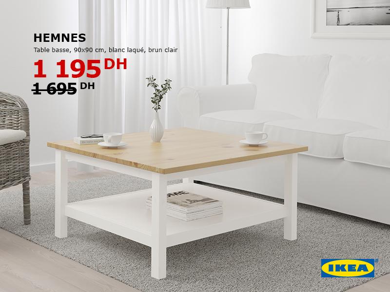 Ikea Maroc Promotion Sur Un Table De Base Blanc Laqué Prix à 1195 Dh