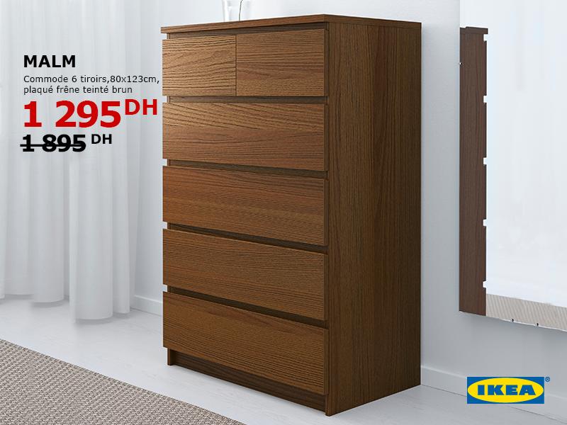 Prix Commode Malm Ikea ikea maroc promotion sur commode 6 tiroirs malm prix à 1295 dh