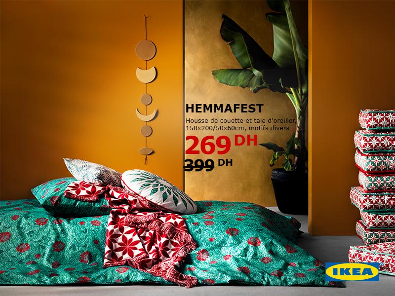 Ikea Maroc Promotion Sur Housse De Couette Et Taie D Oreiller Prix A