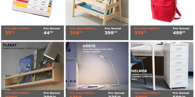 Ikea maroc promotion et offre de ikea family de la rentr e for Mobilia kenitra
