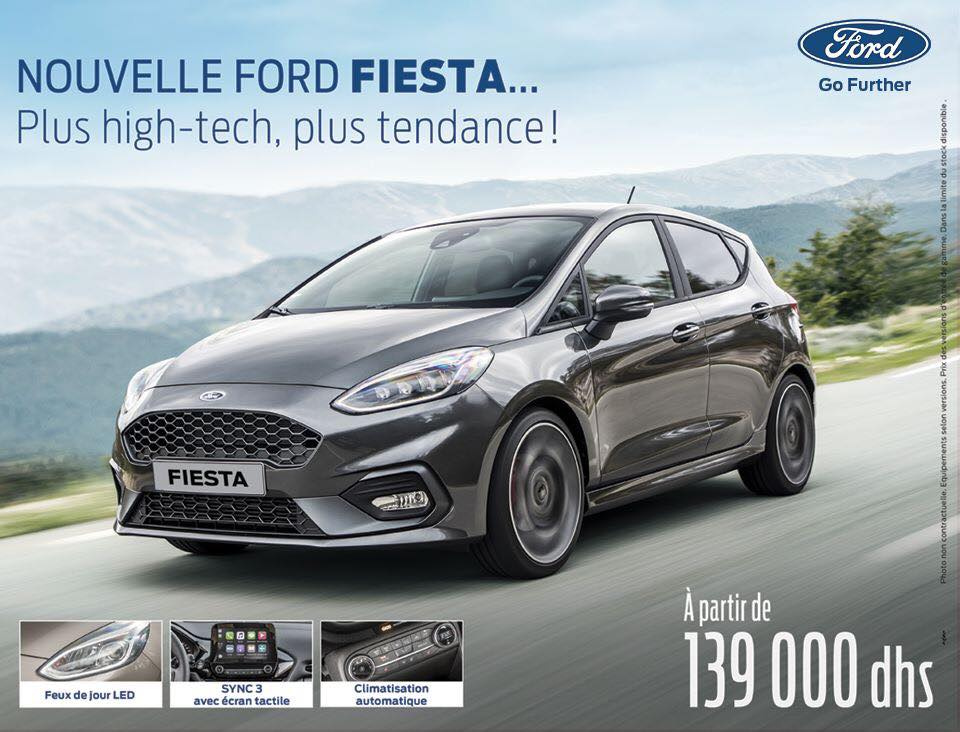 nouvelle ford fiesta neuve au maroc en promotion prix et. Black Bedroom Furniture Sets. Home Design Ideas