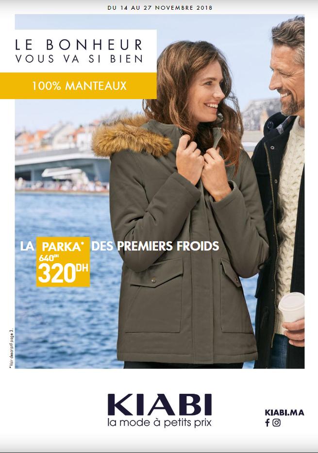 Catalogue et solde Kiabi 100% manteaux jusqu'au 27 Novembre
