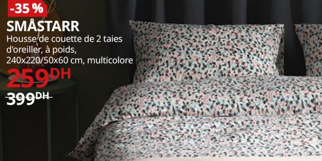housse de couette ikea maroc promotion t 2019. Black Bedroom Furniture Sets. Home Design Ideas